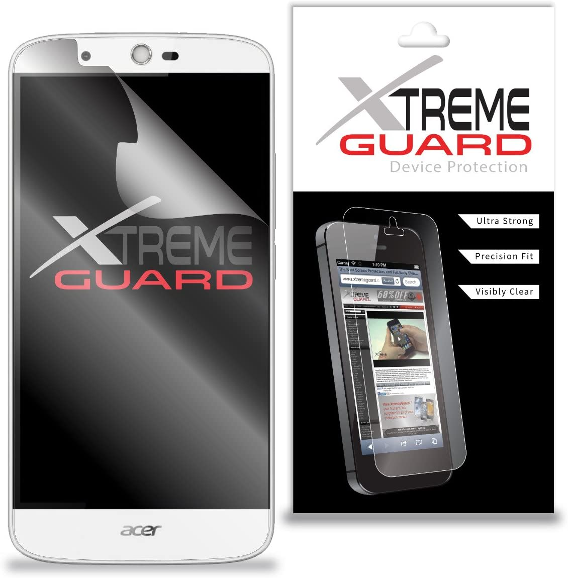 Premium XtremeGuard Screen Protector Cover for Acer Liquid Zest Plus (Ultra Clear)