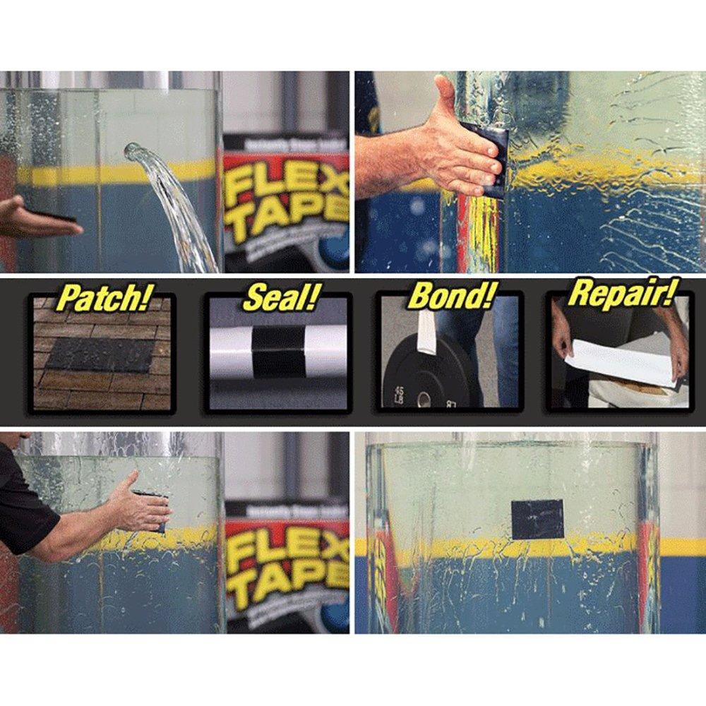Cinta de silicona flexible Flex Tape Pro de T0PDEALSUK para reparar, para todo tipo de clima, cinta de sellado impermeable: Amazon.es: Bricolaje y ...
