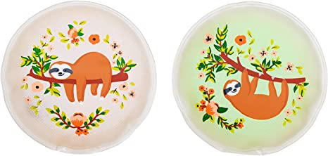 MC-Trend Set of 4 Sloth Hand Warmers for Warm Fingers Against Cold Hands in Autumn and Winter Reusable