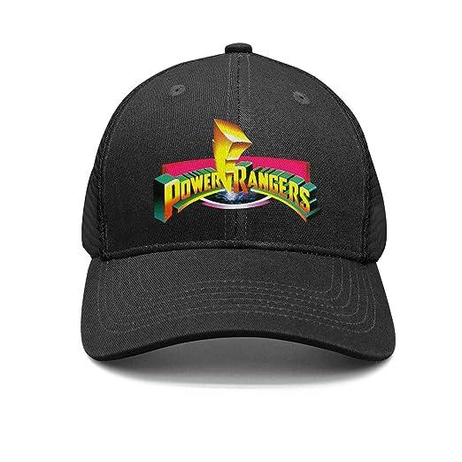 b7b7b9609ccc Zisgner Unisex Black Flat Cap for Mens Womens Power-Rangers-Logo- Baseball  Caps