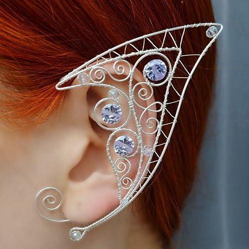 Amazoncom Elven Ears Larp Elven Wedding Elf Ear Cuff Wire