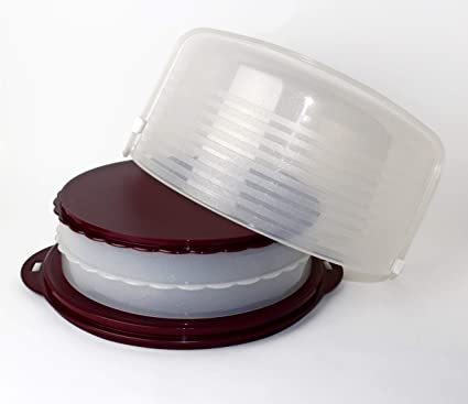 Tupperware C97 Wiener Walzer Brombeer Glitzer Kuchenform für Kuchen/Torten Tortenbehälter+Hochstabler Tortenring