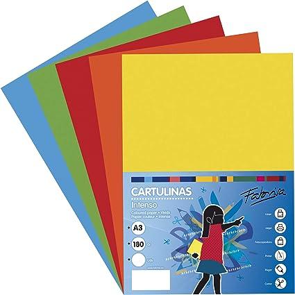 Pack 50 Cartulinas Colores Intensos Tamaño A3 180g: Amazon.es: Oficina y papelería