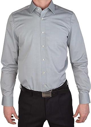 Olymp Niveles Five Body Fit Camisa de Manga Extra Larga Gris Claro al 69: Amazon.es: Ropa y accesorios