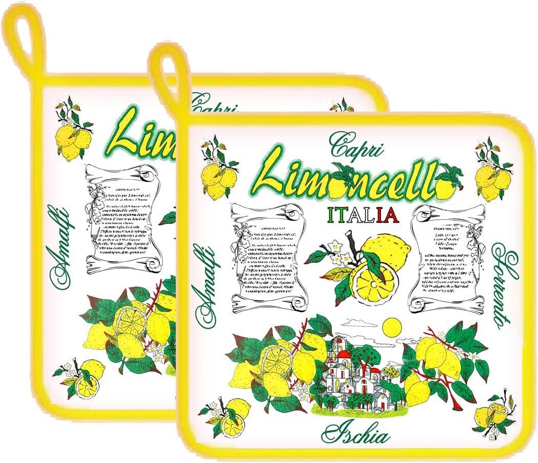 Generico 2 agarradores de cocina Limonello 18 x 18 cm