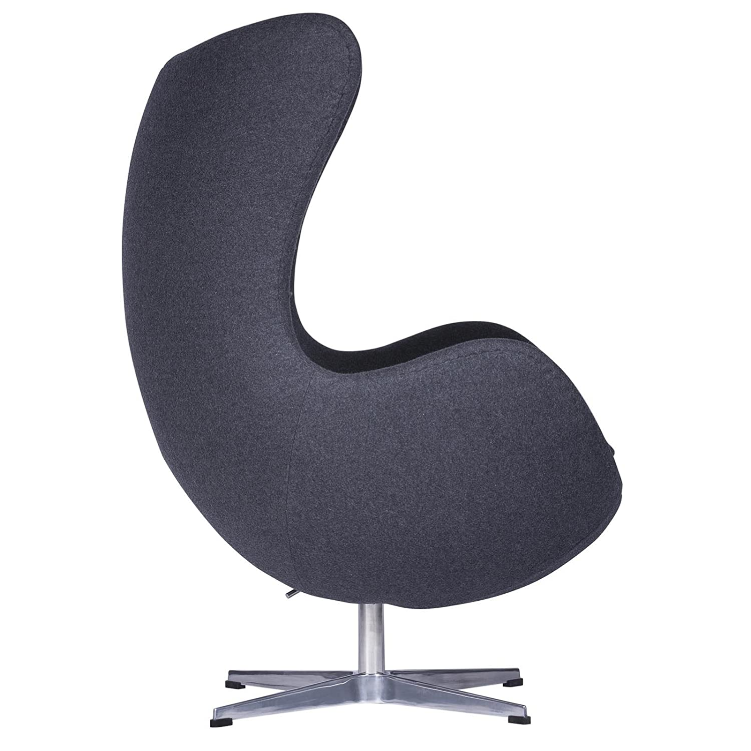 Amazon LeisureMod Arne Jacobsen Egg Chair in Dark Gray Wool