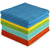 AIDEA Microfiber Cleaning Cloths-8PK, All-Purpose Softer Highly Absorbent, Lint Free - Streak Free Wash Cloth for House, Kitc