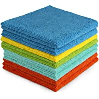 AIDEA Microfiber Cleaning Cloths Edgeless Softer, More Absorbent, Lint-Free, Wash Cloth for Home, Kitchen, Car, Window…