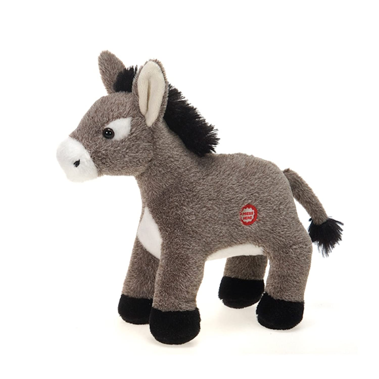 amazoncom dominic the donkey with sound plush stuffed animal toy by fiesta toys 95 toys games - Dominique The Christmas Donkey