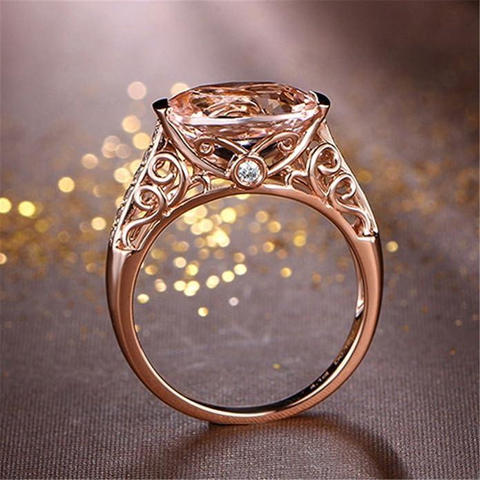 2d1234edf423f 2018 New! Jewelry Ring,Women Loves Gift Gemstone Rose Gold Finger Ring for  Wedding Birthday