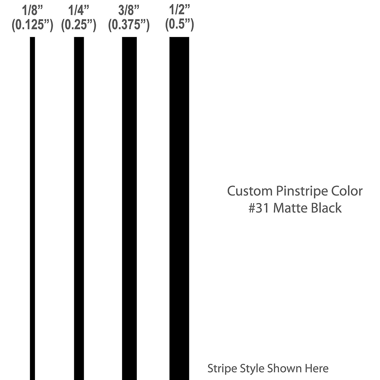Amazoncom Pinstripes MATTE BLACK Vinyl Stripes Custom - Vinyl stripes for motorcycles
