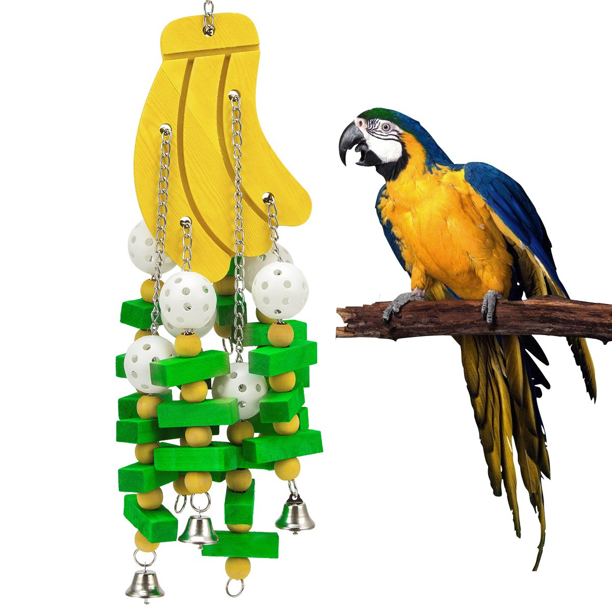 MEWTOGO Bird Knots Block Chewing Toys for Large Parrot
