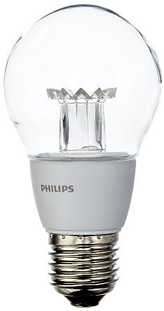 Philips 6W E27 Bombilla LED estándar Mate, 6 W, Transparente y Blanco, 1