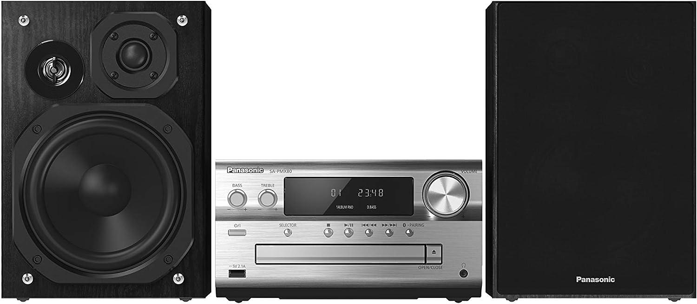Panasonic SC-PMX80EG Home Audio Micro System 120W Negro, Plata - Microcadena (Home Audio Micro System, Negro, Plata, 120 W, De 3 vías, 75 Ω, FM)