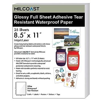Amazon.com: Milcoast - Hoja completa de papel adhesivo para ...