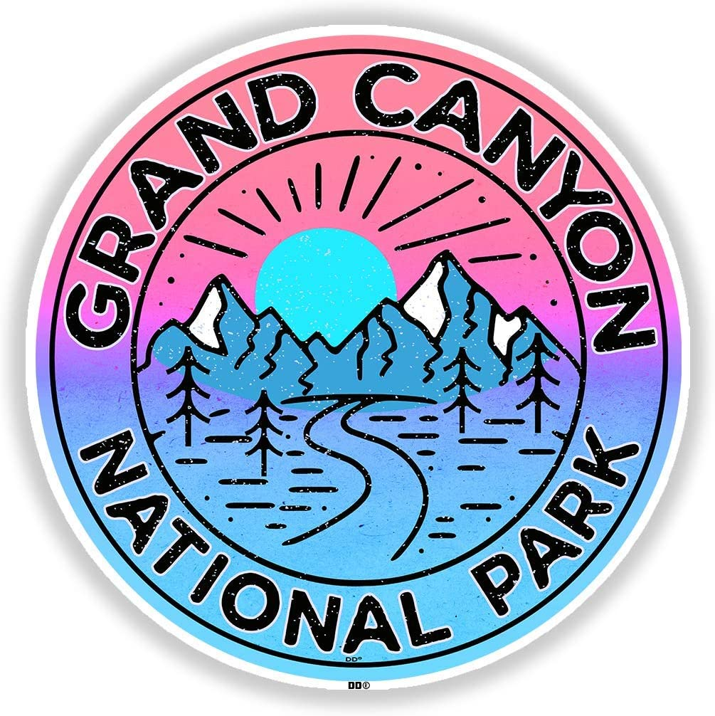 Grand Canyon National Park Decal Sticker 3 Vinyl Arizona Laptop Car Truck Indoor Outdoor