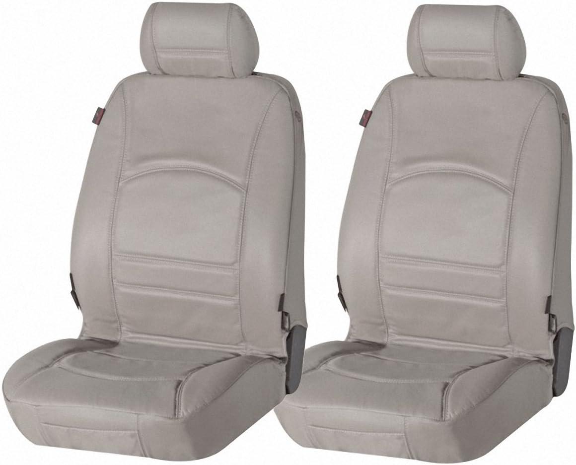 Universal echt Leder Autositzbezug grau für alle PKW Auto Leder Schonbezug