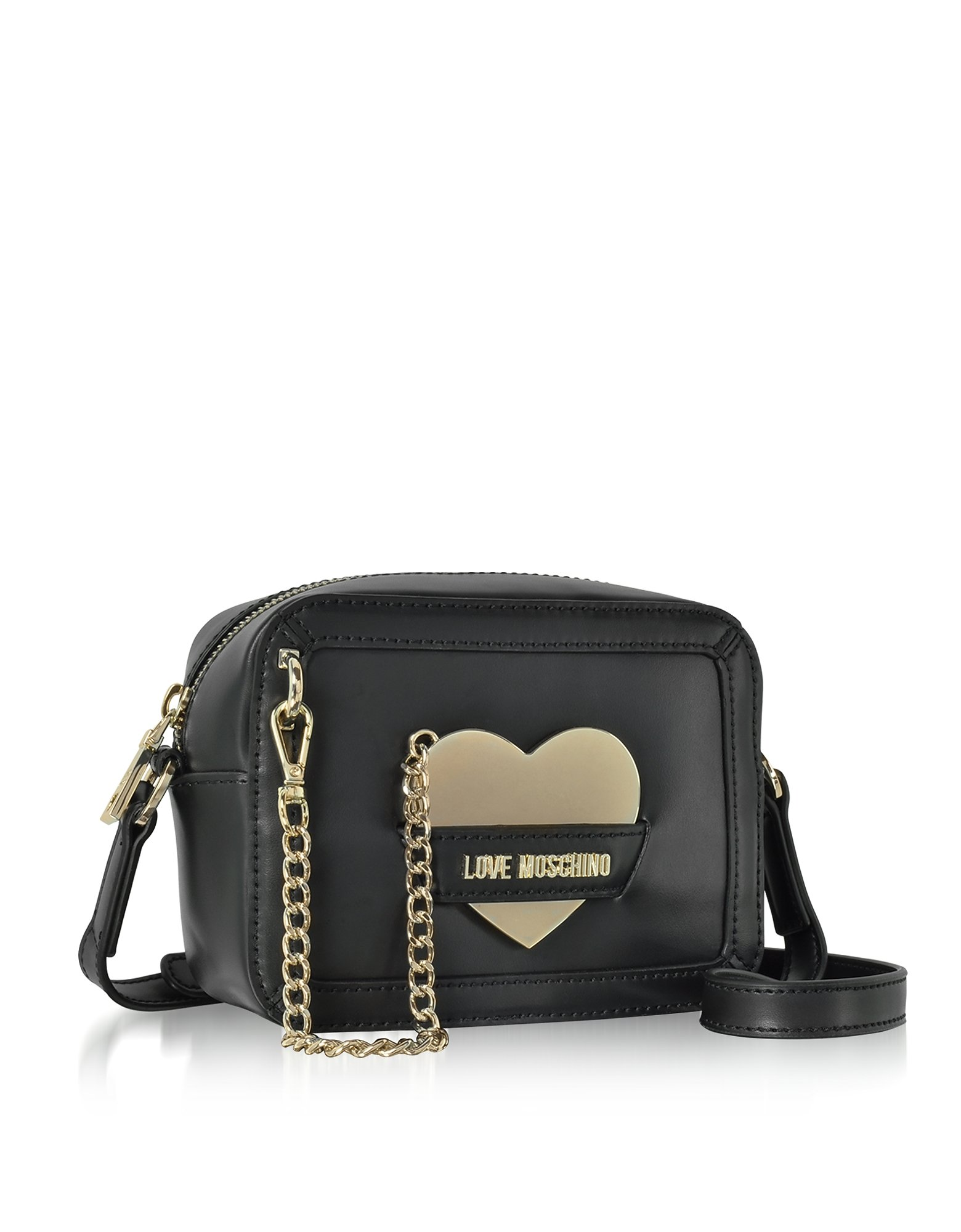 Love Moschino Women's Jc4078pp15li0000 Black Leather Shoulder Bag by Love Moschino (Image #2)