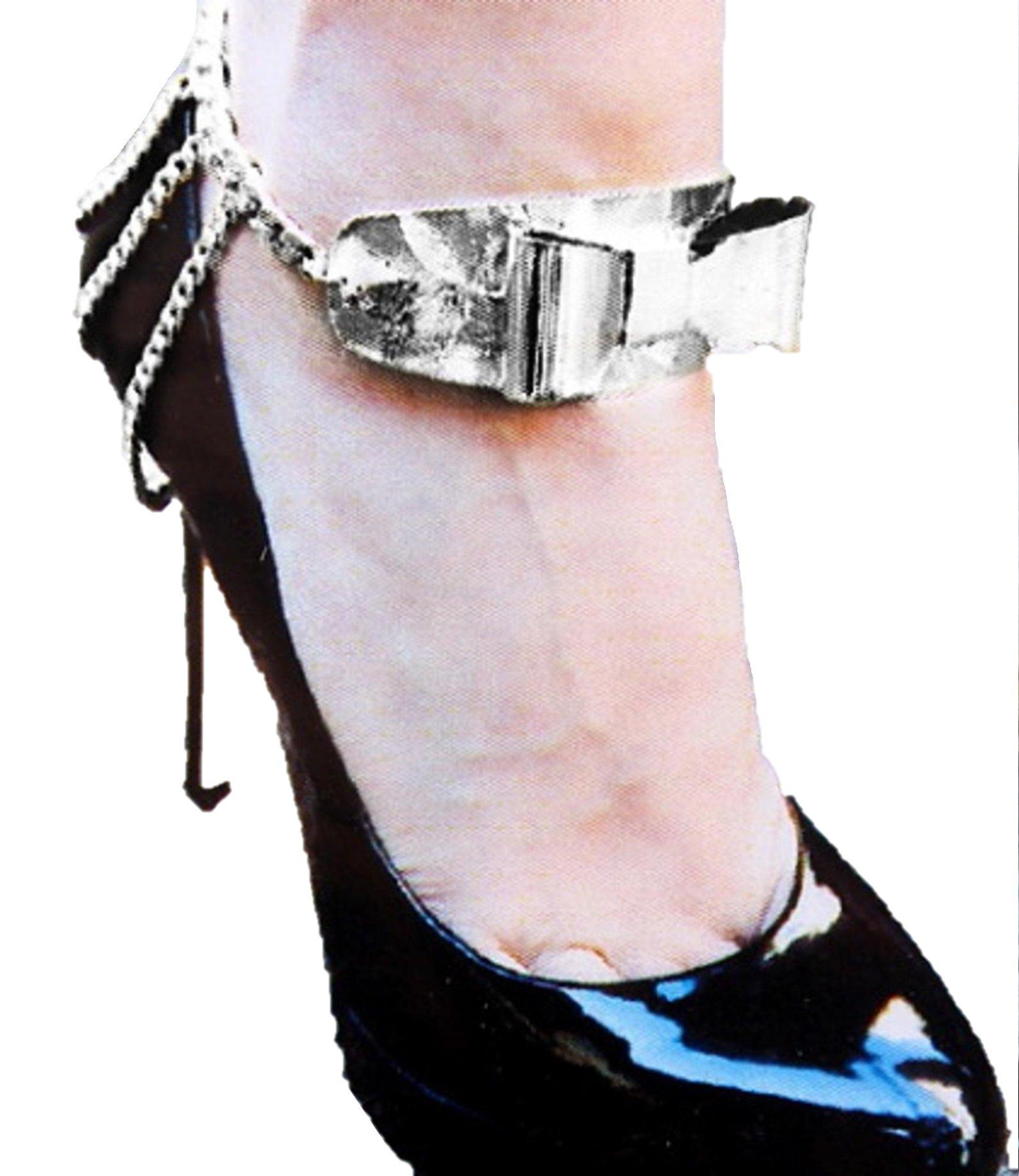 Bow Shoe Chain - Anklet / AZFJBT018-SIL