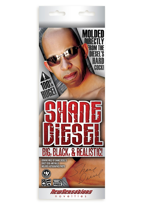 Ns Novelties Shane Diesel Big Black and Realistic, 10 Inch, Brown