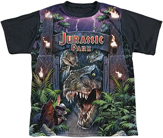 Jurassic Park 1993 Sci-Fi Thriller Movie Welcome Big Boys Front Print T-Shirt