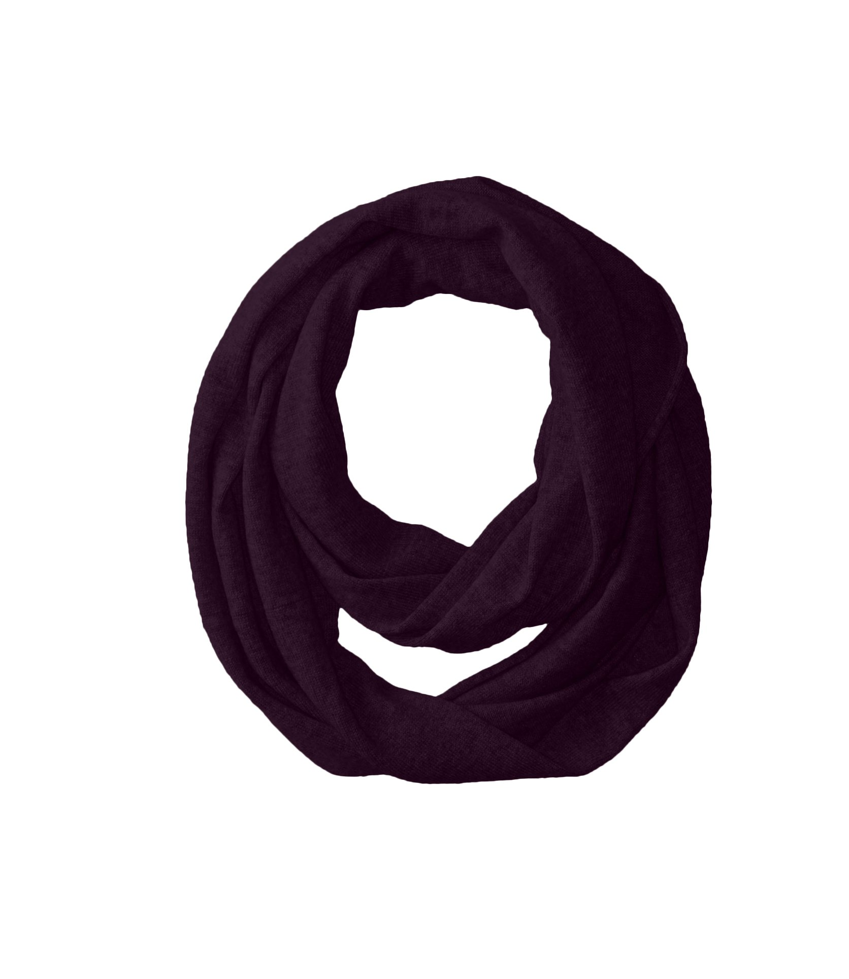 bela.nyc Women's Cashmere Solid Infinity Scarf, Plum, One Size by bela.nyc