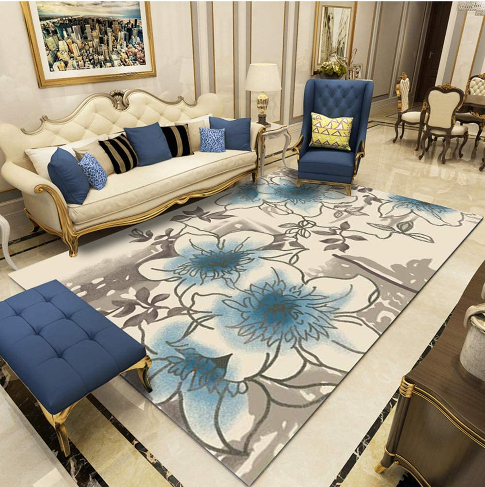 """Area Rug Machine Washable Printed Geometric Rugs with Modern Rug Stain Resistant for Kitchen Floor, Living Room, Bedroom,a,63""""x90.5""""/6.2'x7.5'"""