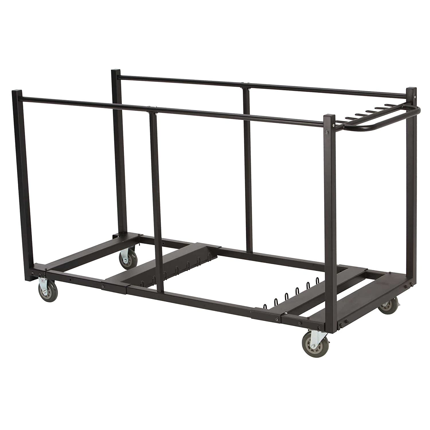 Amazon Lifetime Table Cart with Heavy Duty Steel Black