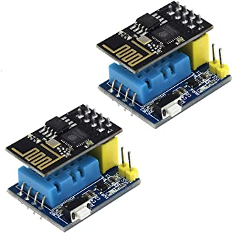 WINGONEER 5Pcs ESP8266 DHT11 ESP 01//01S Temperature /& Humidity Transceiver Module