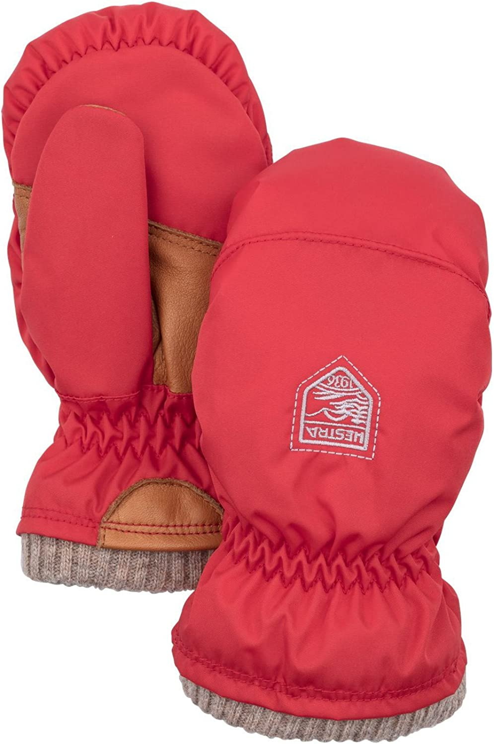 Hestra Gloves 36921 My First Basic Mitt 3 Light Red