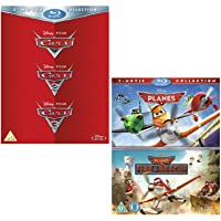 Cars I - III (Complete) - Planes I and II (Complete) - Walt Disney 2 Movie Bundling Blu-ray