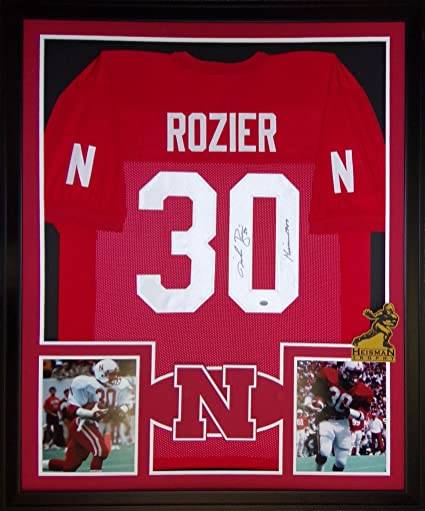 reputable site d0ff5 128f1 Mike Rozier Nebraska Cornhuskers Autographed Signed Custom ...