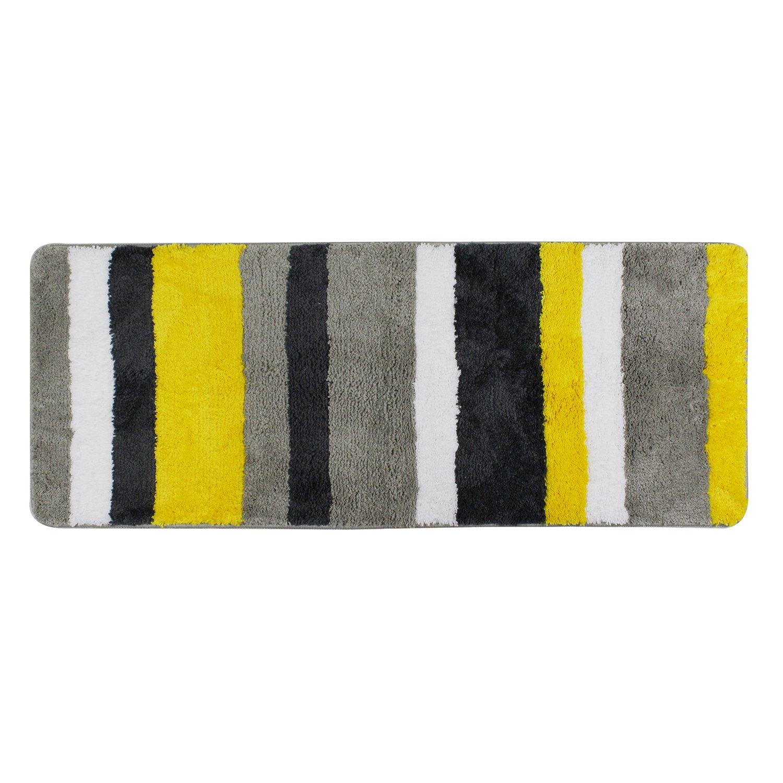 Hepix Extra Long Bathroom Runner Rugs Non-Slip Microfiber Bath Mat Rug Runner for Bathroom Absorbent Kitchen Floor Rug Machine Washable(18x47.2)