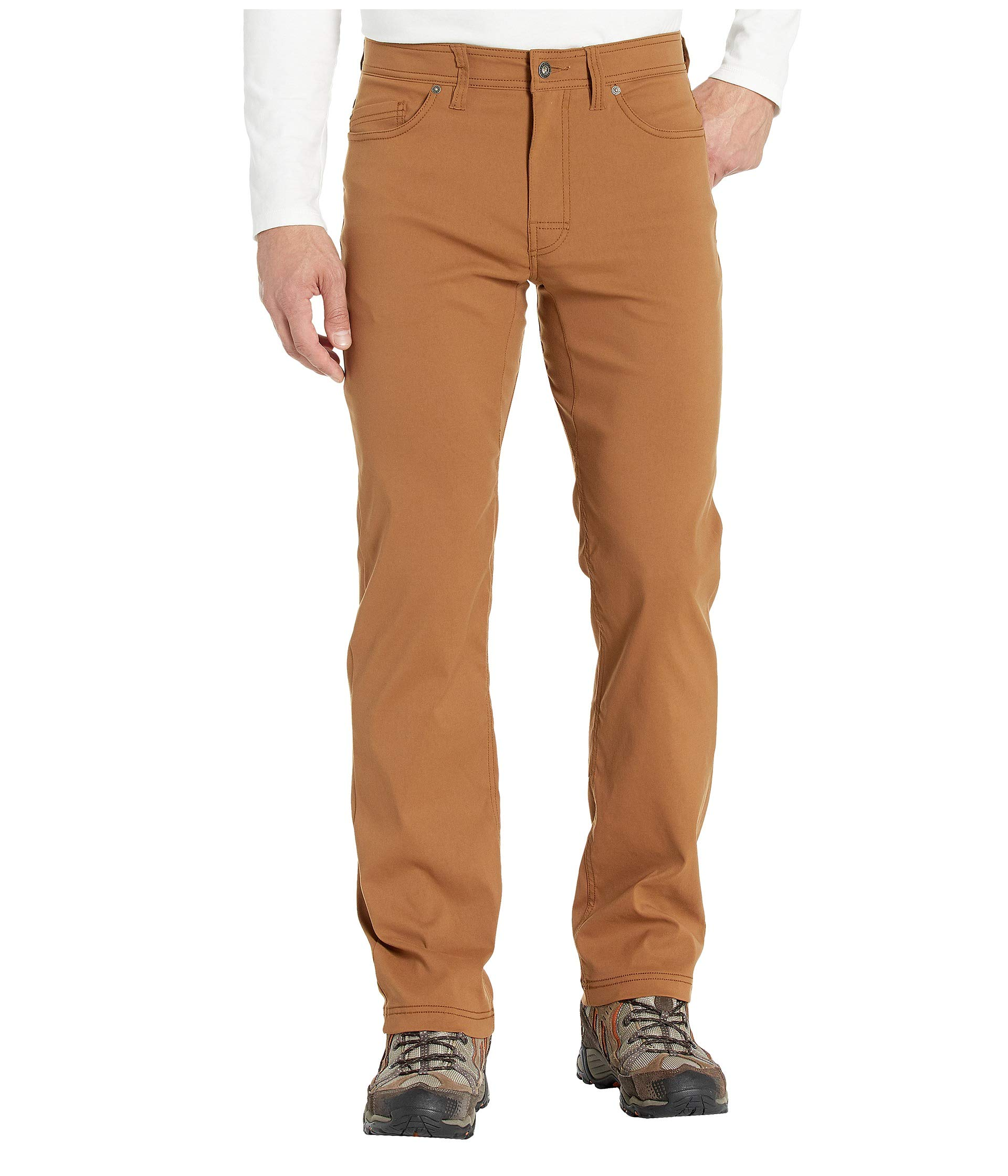 prAna - Men's Brion Lightweight, Breathable, Wrinkle-Resistant Stretch Pants for Hiking and Everyday Wear, 34'' Inseam, Sepia, 35 by prAna