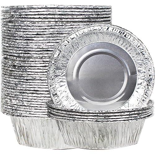 Disposable 50 Pcs 2 8 Quot Aluminum Foil Cupcake Cookie Pie