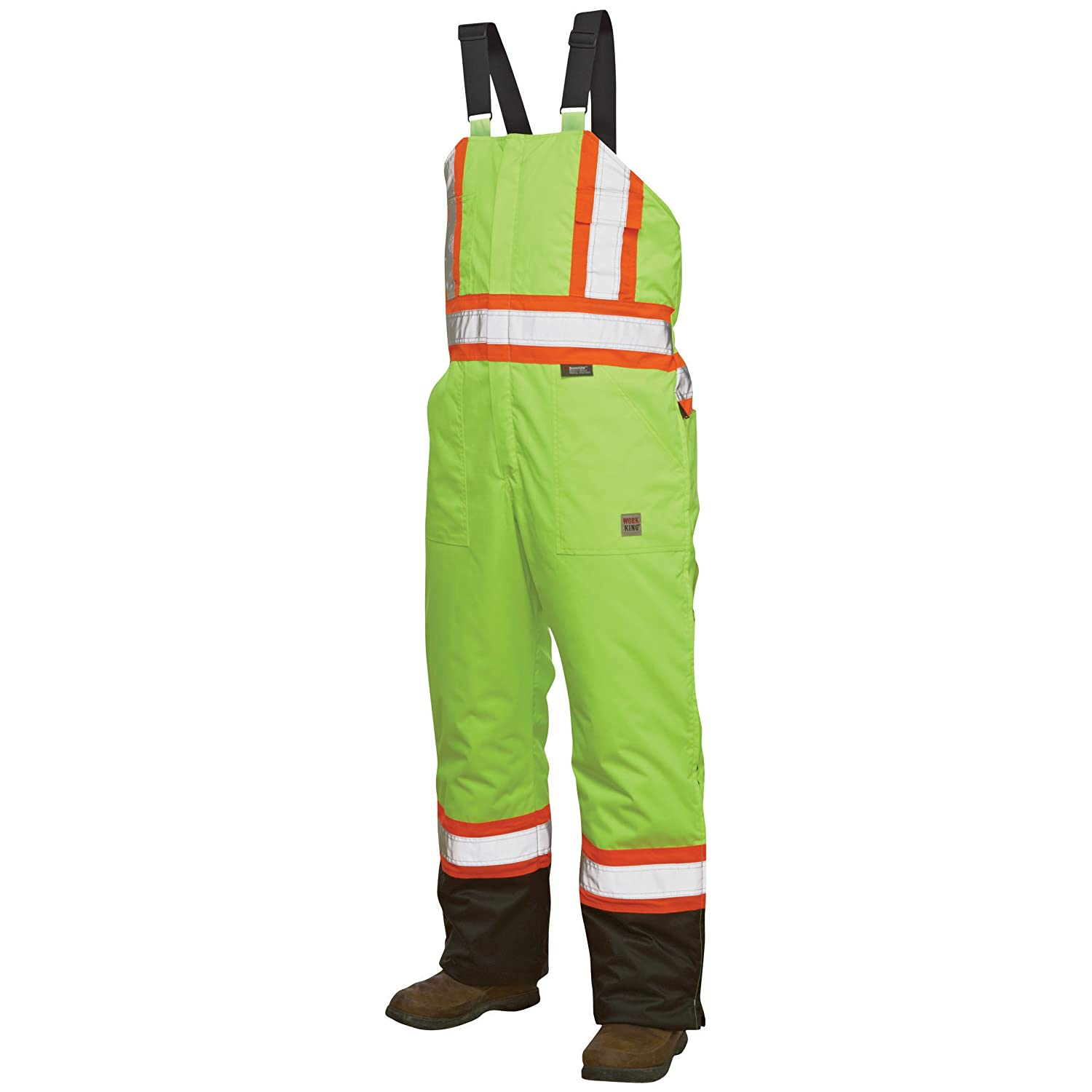 Work King Safety Mens Hi Vis Insulated Safety Overall Work King Safety Men' s Work Apparel S79801