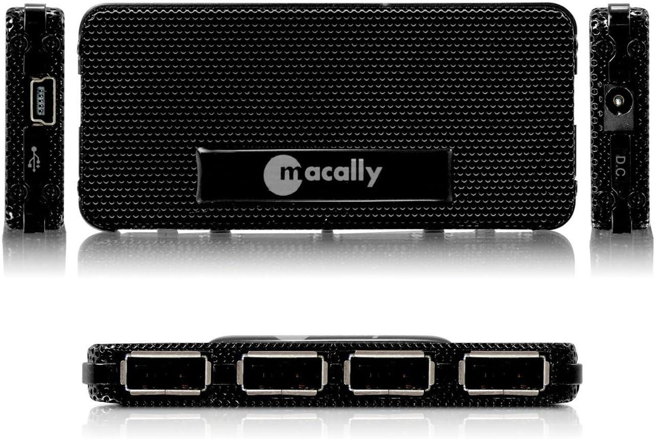 Macally Ultra Slim 4-Port Hi-Speed USB2.0 Hub for Mac and PC mHub