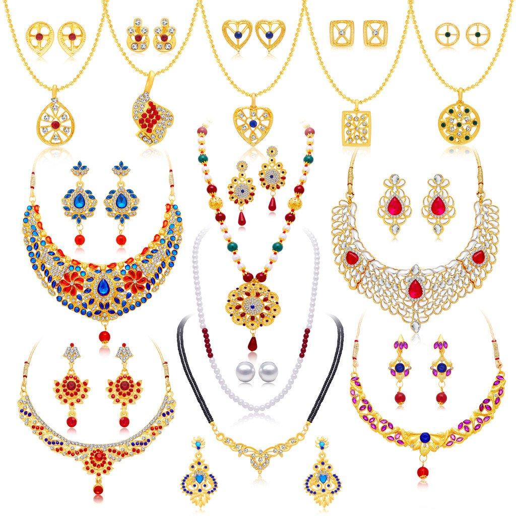 Sukkhi Jewellery Sets for Women (Golden) (294CB2600)