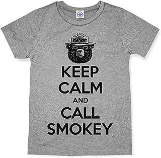 product image for Hank Player U.S.A. Keep Calm & Call Smokey Bear Kid's T-Shirt
