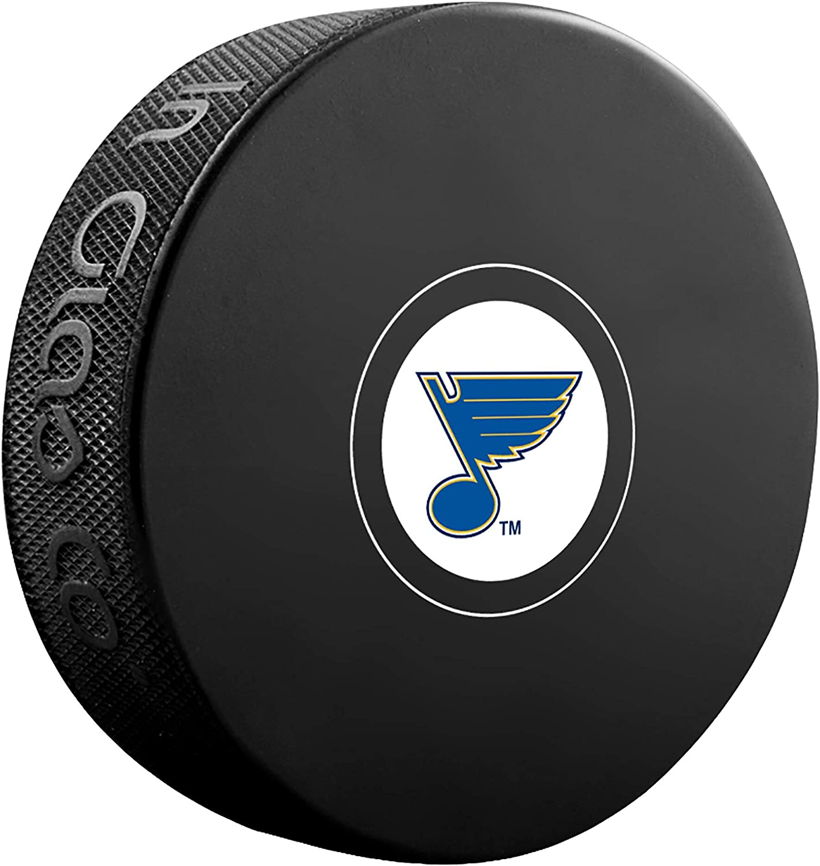 Louis Blues Official NHL Logo Souvenir Autograph Hockey Puck Inglasco St