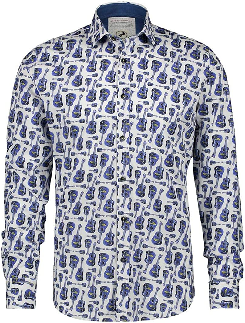 A FISH NAMED FRED Camisa Guitarras Azules - Color ...