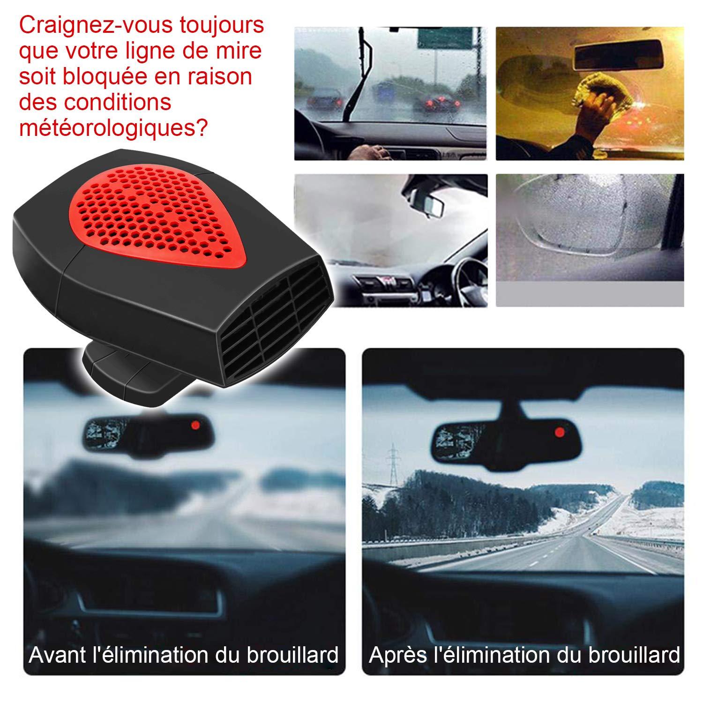 Chauffage Voiture Ventilateur 12V,2 En 1R/éChauffeur De Voiture Portable Ventilateur Voiture Allume Cigare Chaud Froid Ventilateur Auto D/éGivrage Et D/éSembuage Rapide De Pare-Brise-150W