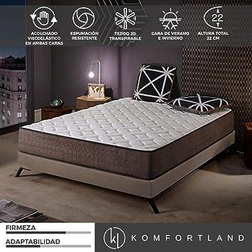 Komfortland Colchon 135x190 viscoelastico Memory Royal de altura 22cm, 4 cm Viscosensitive: Amazon.es: Juguetes y juegos
