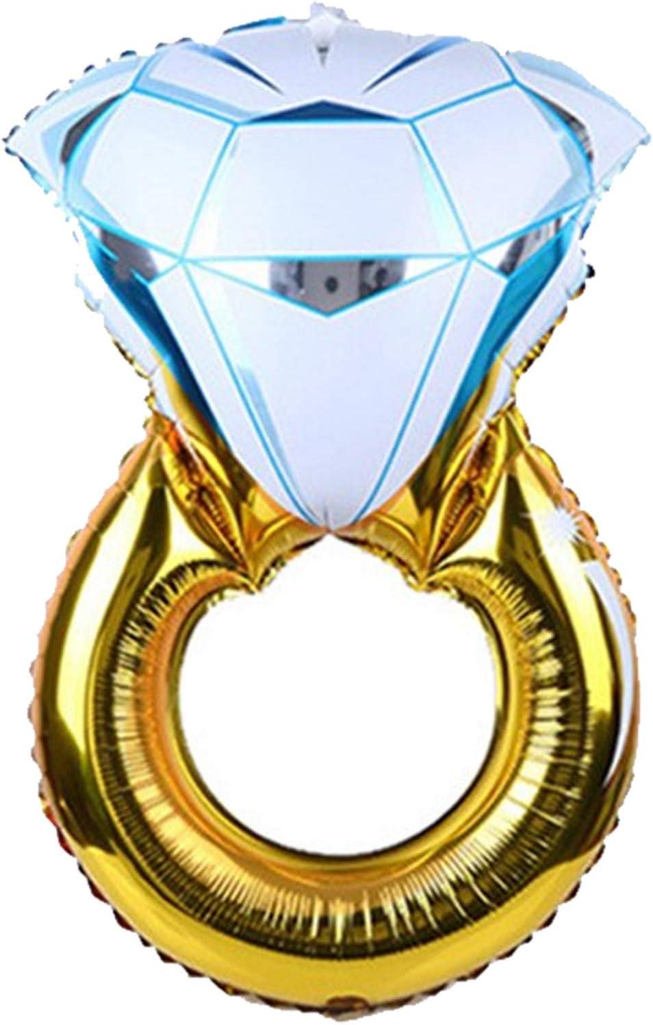 ETCBUYS Globos Anillo de Diamantes - Compromiso Matrimonio de Bodas Foil Balloon - Fiesta de cumpleaños Adulto Niños Evento Fiesta Nupcial Suministros - de Accesorios de Vino
