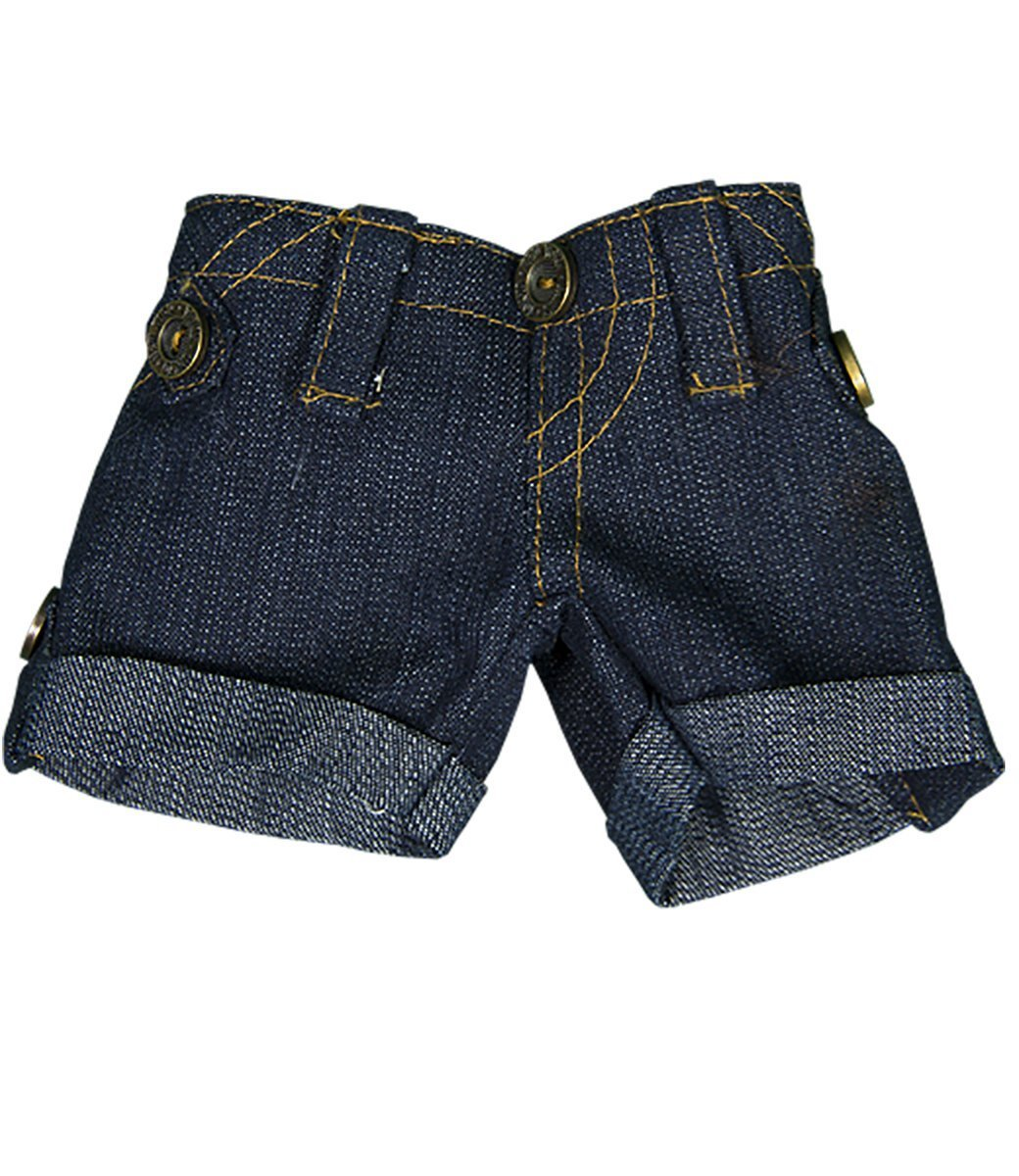 "Denim Shorts Teddy Bear Clothes Fit 8"" - 10"" Build-a-bear, Vermont Teddy Bears, and Make Your Own Stuffed Animals Teddy Mountain"