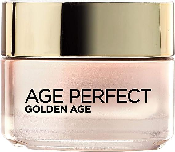 LOréal Paris Age Perfect Golden Age Crema de Día Fortificante de Rosas, Antiflacidez y Luminosidad, Pieles Maduras y Apagadas, 50 ml