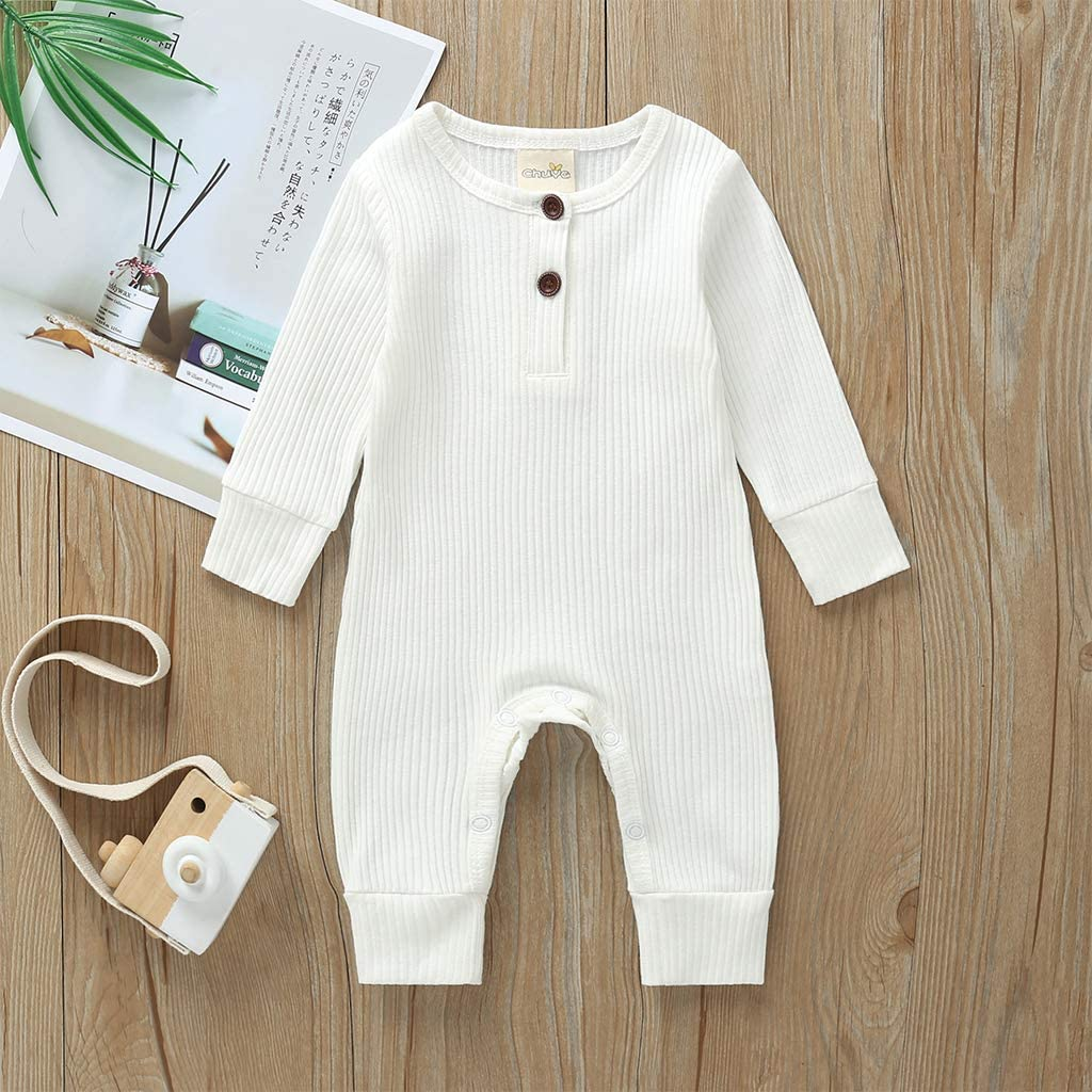 SEVEN YOUNG Infant Baby Boys Girls Fall Rompers Long Sleeve Cotton Bodysuit Jumpsuit Onesies Outfits Clothes