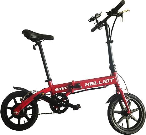HE-Bikes Helliot Bicicleta de Paseo eléctrica, Unisex Adulto, Rojo, M: Amazon.es: Deportes y aire libre