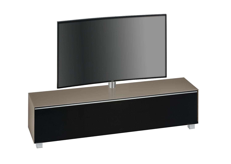 TV-Board Soundboard MAJA Soundconcept Korpus Glas sand matt / Akustikstoff schwarz 180x43x42cm