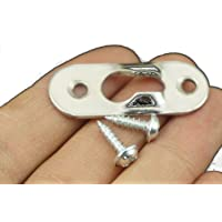(Pack Of 50pcs) & # xFF0C; Heavy Duty Flat Keyhole Picture Plating Perchas Sujetadores Soporte y tornillos